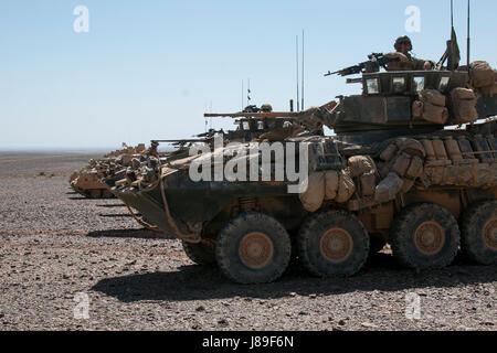 M2A3 Bradley Fighting Vehicles from the 3rd Battalion, 8th Cavalry Regiment, 3rd Armored Brigade Combat Team, 1st - Stock Photo