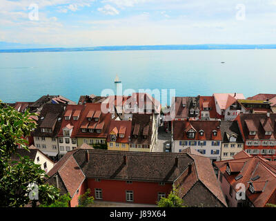 meersburg on lake constance - Stock Photo