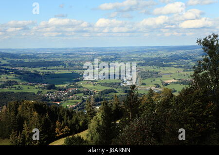 alps, bavaria, germany, german federal republic, scenery, countryside, nature, - Stock Photo