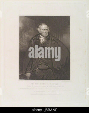 George Romney by and published by William Bond, after Sir Martin Archer Shee - Stock Photo