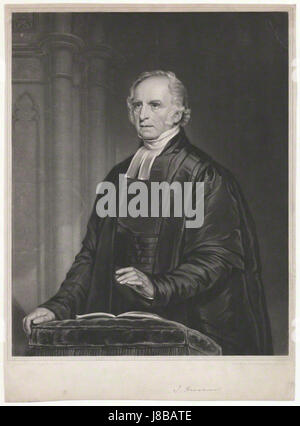 John Hensman by William Overend Geller, after Samuel West - Stock Photo
