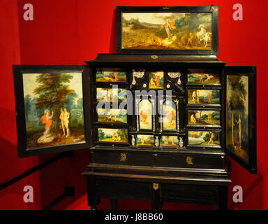 Frans Francken II (1581 1642)   Kunstkabinet met schilderijtjes   MAS 30 05 2012 14 06 59 - Stock Photo