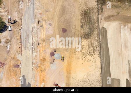 Industrial park under construction. - Stock Photo