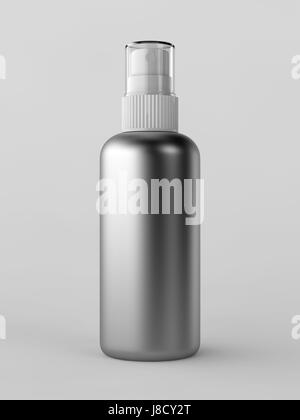 metal, bottle, cap, spray, atomizer, can, dispenser, object, isolated, modern, - Stock Photo