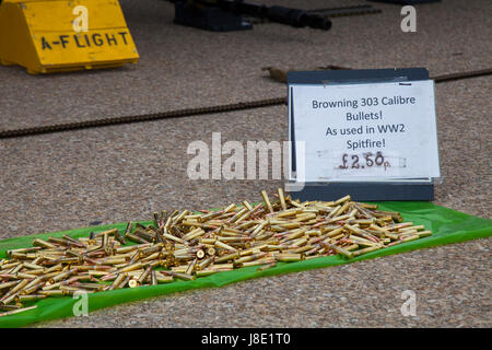 Blackpool, Fylde Coast, Lancashire, UK. 28th May, 2017. Bank Holiday attractions. Selling bullets for charity to - Stock Photo