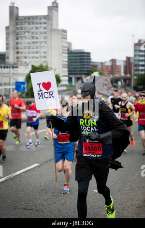 Manchester, UK. 28th May, 2017. The Simplyhealth Great Manchester Run returns for its 15th year, with up to 30,000 - Stock Photo
