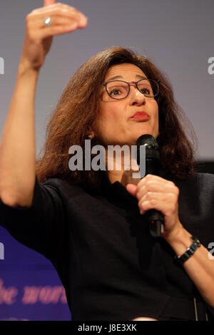 Hay Festival 2017 - Hay on Wye, Wales, UK - May 2017 - Economist Nemat Shafik the new Director of the London School - Stock Photo