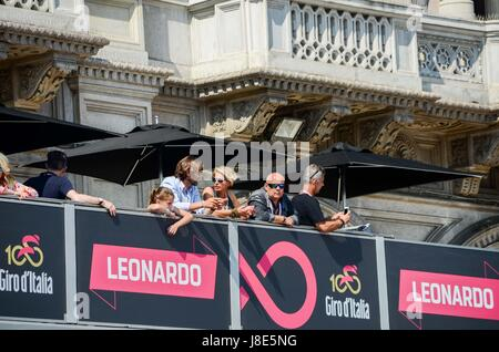 Milan, Italy. 28th May, 2017. The 21st and final stage of the Giro d'Italia cycling race from Monza to Milan (29.3km) - Stock Photo