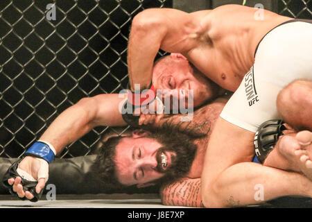 Ericsson Globe, Stockholm, Sweden. 28th May, 2017. Jack Hermansson defeats Alex Nicholson during UFC Fight Night - Stock Photo