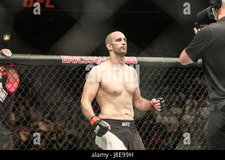 Ericsson Globe , Stockholm, Sweden . 28 May 2017. Volkan Oezdemir defeats Misha Cirkunov via TKO during UFC Fight - Stock Photo