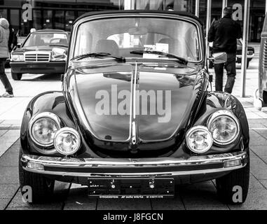 black classic vw beetle cabrio stock photo royalty free. Black Bedroom Furniture Sets. Home Design Ideas