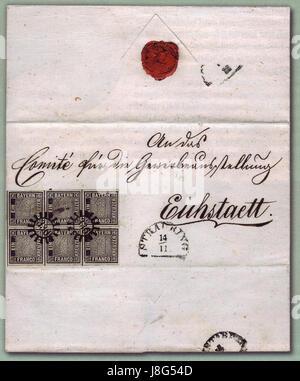 Eichstaett Brief postfrisch - Stock Photo