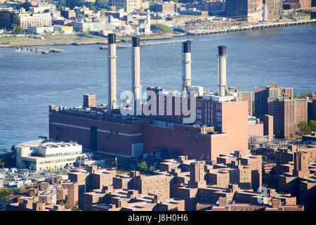 conedison power plant 15th street lower manhattan New York City USA - Stock Photo