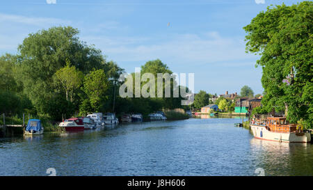 Boats on the River Waveney at Beccles - Stock Photo