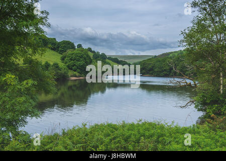 The Lower Lliw Reservoir in the Lliw Valley near Swansea, south Wales - Stock Photo