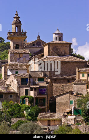 mallorca, spain, balearic islands, saint, isle, island, church, tree, trees, - Stock Photo