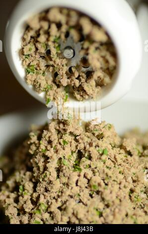 Minced meat (beef) with parsley - Stock Photo