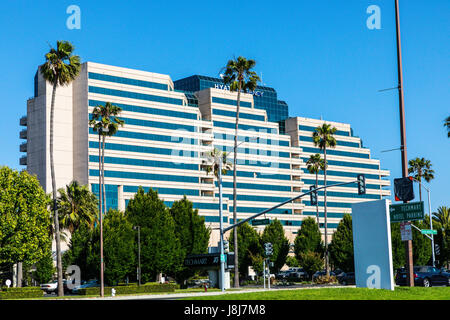 The Hyatt Regency in Santa Clara California - Stock Photo