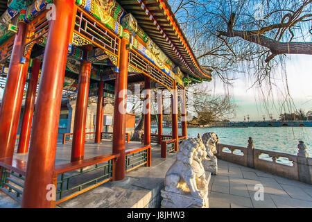 In the Beihai Park in Beijing China - Stock Photo