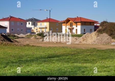development area in rural bavaria - Stock Photo