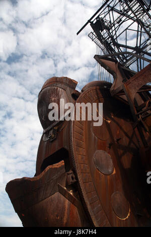 dredger, coal, surface mining, overburden, postulate, claim, environment, - Stock Photo