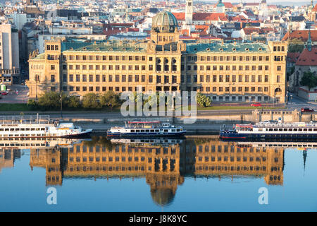 PRAGUE, CZECH REPUBLIC - MAY 28, 2017: The building of the Czech Ministry of Industry and Trade - Stock Photo