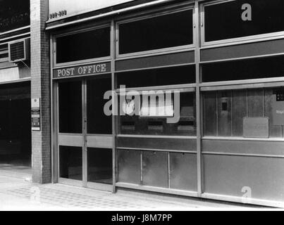 Exterior of the Post Office branch at Euston Road in London, England on August 5, 1989. - Stock Photo