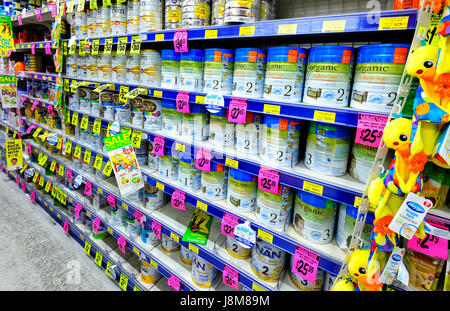 Food Products On Sale On The Shelves In A Poundland Shop