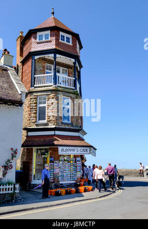 Lynmouth a Seaside Town on the North Devon and Exmoor Coast - Stock Photo
