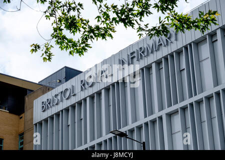 Bristol Royal Infirmary Hospital Bristol England UK - Stock Photo