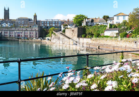 the wharf at penzance in cornwall, england, uk - Stock Photo