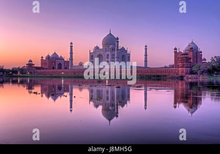 Taj Mahal, Agra, Uttar Pradesh, India. - Stock Photo