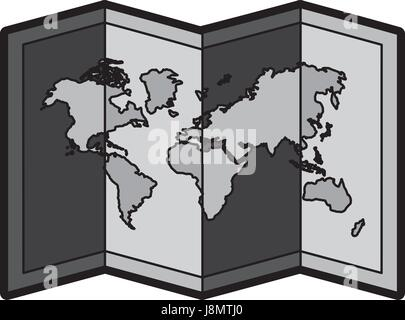 World map cartoon flat illustration stock vector art flat world map cartoon stock photo gumiabroncs Image collections
