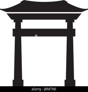 black icon chinese gate