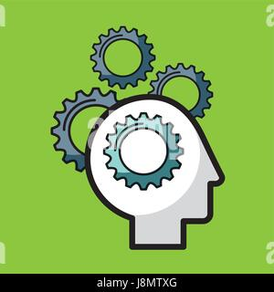 heads sprockets human - Stock Photo