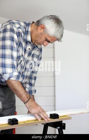 build, citizen, burgher, carpenter, seat, bench, carpentry, supplier, - Stock Photo