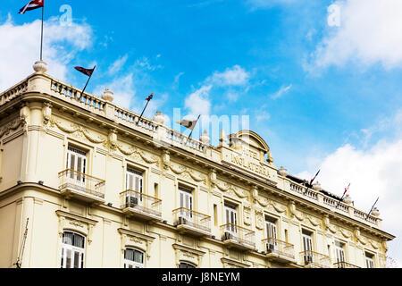 Inglaterra Hotel Havana Cuba Hotel Inglaterra, Paseo de Martí (aka Paseo del Prado), Old Havana (La Habana Vieja), - Stock Photo