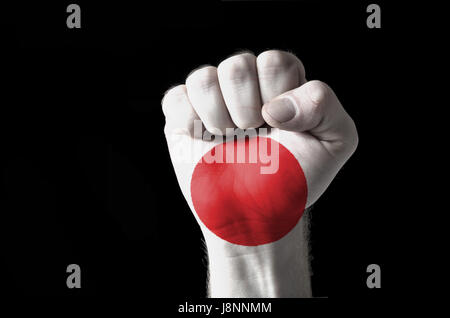 fist, energy, power, electricity, electric power, flag, force, national, - Stock Photo