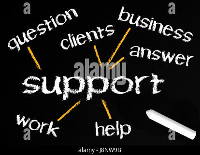 support - business concept - Stock Photo