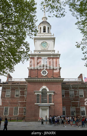south facade Independence Hall Philadelphia USA - Stock Photo