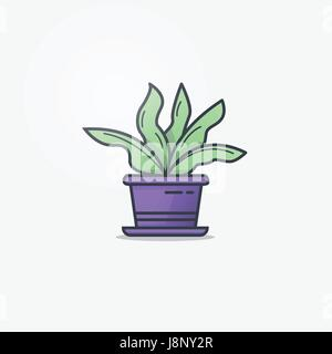 Watering can and flower pot - Stock Photo