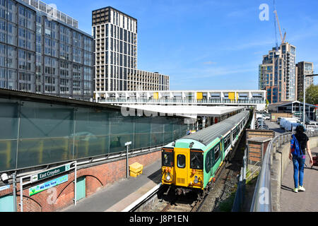 Development of new office blocks & apartment towers nearing completion  & under construction around East Croydon - Stock Photo