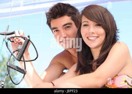 laugh, laughs, laughing, twit, giggle, smile, smiling, laughter, laughingly, - Stock Photo