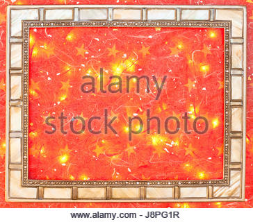 holiday, winter, antique, wall, ornament, magical, decor, party, celebration, - Stock Photo