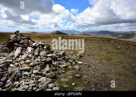 Ill Bell and Froswick from Harter Fell - Stock Photo