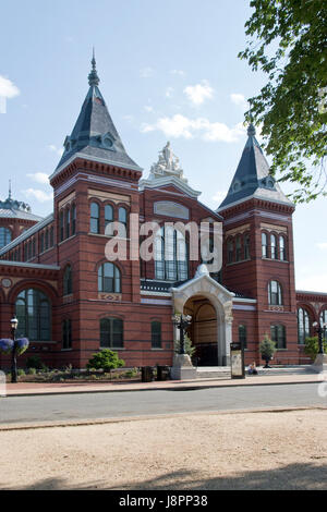 The Arts and Industries Building is the second oldest of the Smithsonian museums on the National Mall in Washington, - Stock Photo