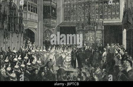 Wedding of Bertie Prince of Wales 10 March 1863 - Stock Photo