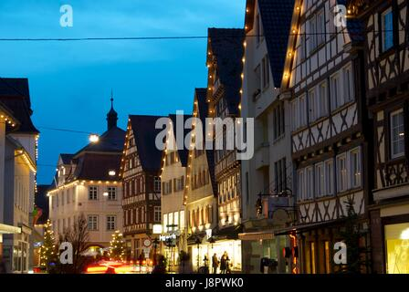 christmas market in nagold - Stock Photo