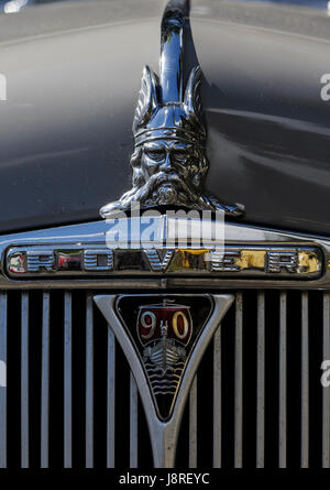 Rover 90 model badge and part of front grill. - Stock Photo