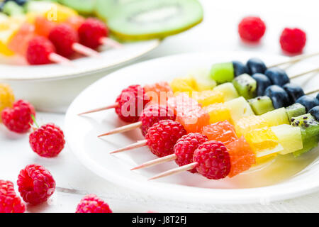 Mixed fruits and berries - Stock Photo